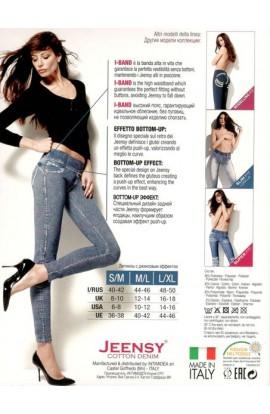 Jeensy slim Fit Rory leggings modellante effetto jeans delave'