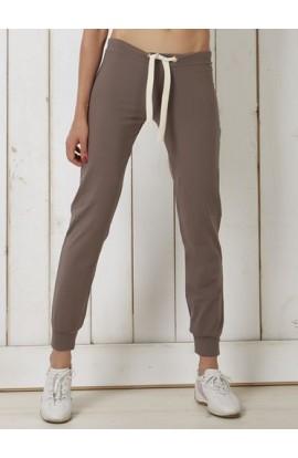 Pantalone donna con bordo alla caviglia, cotone bielastico Oxigym BL982