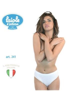Slip donna a costina 100% cotone anallergico morbidissimo Laiole 241