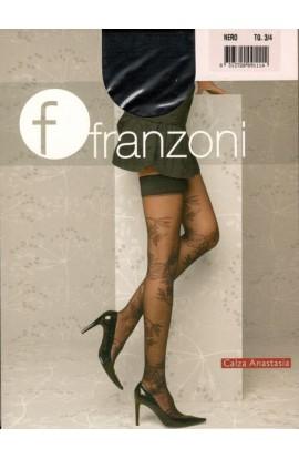 Calza Autoreggente elasticizzata fantasia floreale Anastasia Franzoni
