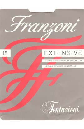 6 paia collant tuttonudo velatissimi elasticizzati 15 den Extensive Franzoni