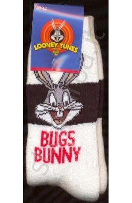 Calza spugna gamba corta ragazzo Bugs Bunny cotone