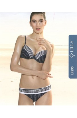 Bikini coppa C push-up con ferretto e mutandina alta LF295