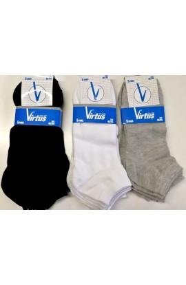 5 paia di Calze invisibili uomo 40/45 in cotone Virtus V740