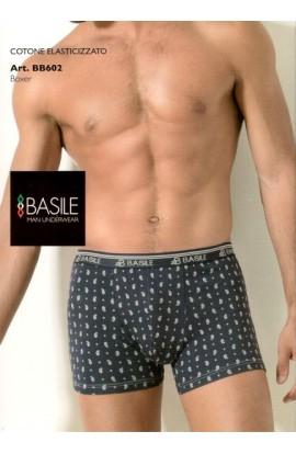 Boxer Basile cotone elasticizzato piccola fantasia BB602