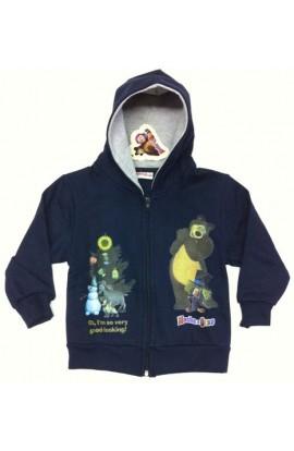 Giacca felpata invernale per bambini con cappuccio Masha e Orso MASFZ37