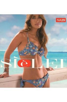 Bikini reggiseno push-up con ferretto e slip taglio vivo allacciato SièLei NA29