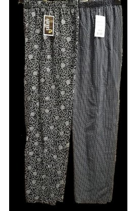 Pantalone estivo per donna, leggerissimo e morbidissimo in viscosa dalla S alla XXXL Aertre 6121-28