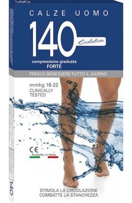 Calza riposante uomo 140 den cotone compressione graduata forte 18-22 mmHg