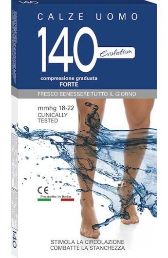 Calza riposante uomo 140 den cotone compressione graduata 18-22 mmHg