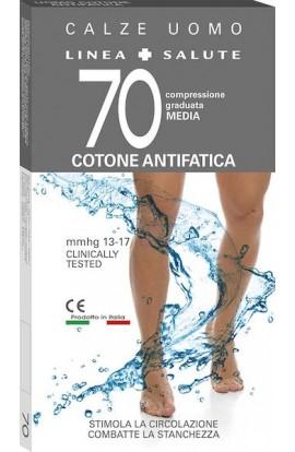 Calza riposante uomo 70 den Filo di Scozia gamba lunga antifatica compressione 13-17 mmHg