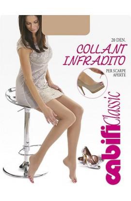 Collant Infradito 20 den velato trasparentissimo per scarpe aperte Cabifi