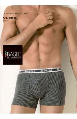 Boxer Basile cotone elasticizzato con piccoli rombi BB605
