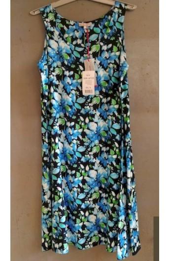 Vestito estivo viscosa per donna spalla larga fresco sempre perfetto Aertre A672-28