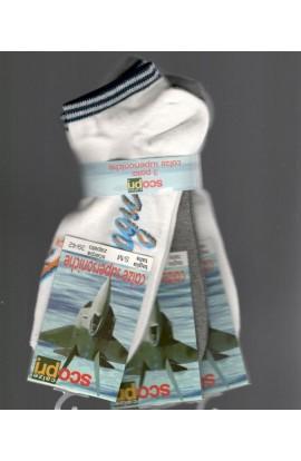 3 Calze fantasmini invisibili giro scarpa LONDRA confezione da 3 paia