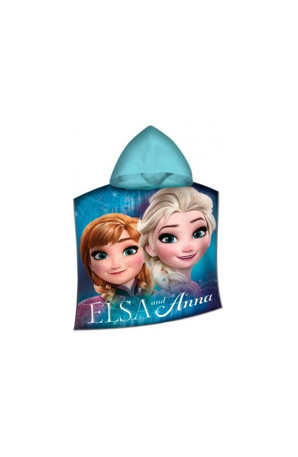 Poncho mare o piscina Frozen Elsa e Anna 100% cotone