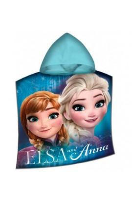 Poncho Frozen mare o piscina Elsa e Anna 100% cotone