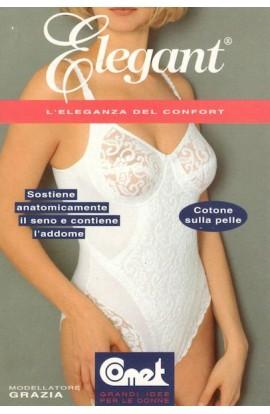 Body modellatore cotone sulla pelle senza ferretto Grazia Comet