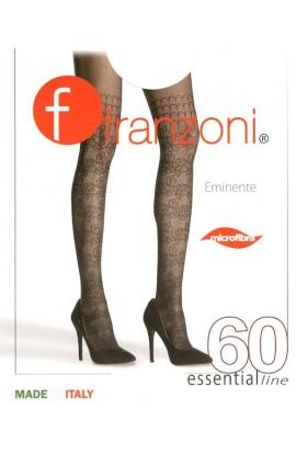 Collant donna fantasia floreale posizionata microfibra 60 Franzoni Eminente