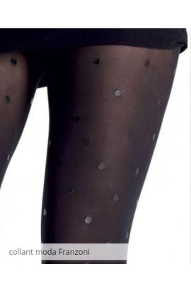 Collant donna coprente e opaco con stampa a pois effetto pelle Franzoni Techno