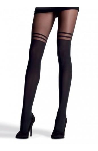 la migliore vendita sulle immagini di piedi di più vicino a Collant donna effetto parigina coprente fin sopra il ginocchio e velato in  coscia Franzoni Tempestiva