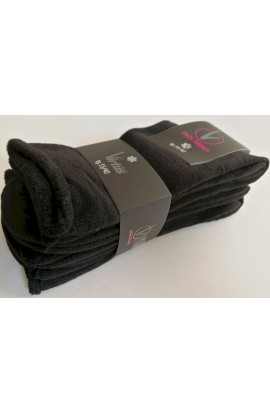 3 Calze donna sanitarie termiche caldo cotone senza elastico non stringe V8550