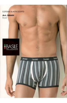 Boxer Basile cotone elasticizzato con righe verticali BB604