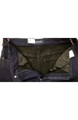 Pantalone uomo invernale tessuto twill elasticizzato foderato in pile HD 812