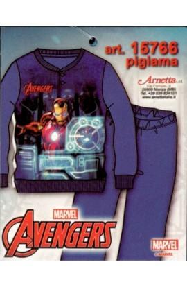 Pigiama bimbo invernale Avengers felpina di 100% cotone 15766