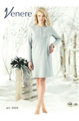 Camicia da notte 100% cotone invernale interlock Venere 9509