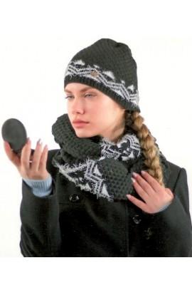 Cappello donna motivo geometrico peloso Colombo C567