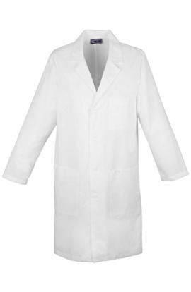 Camice medico laboratorio chimico unisex bianco cotone 100%