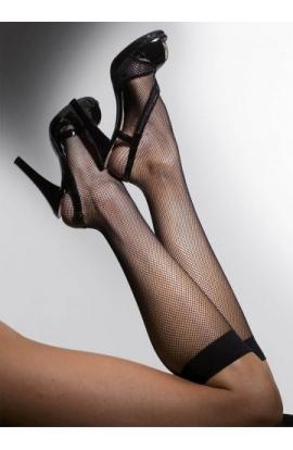 Gambaletto a rete elasticizzata per donna con bordo morbido