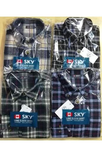 Camicia in flanella per uomo calda e morbida misto cotone SKY 9043