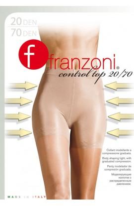 Collant riducente con guaina contenitiva Control Top 20/70 a compressione differenziata velate Franzoni