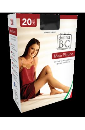 Collant EXTRA - EXTRA LARGE ultra conformato calibrato taglie forti con doppio tassello BC Maxi Platino 20 den