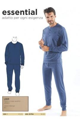 Pigiama per uomo misura calibrate dalla 56 alla 60 100% cotone Nazareno Gabrielli U531XL
