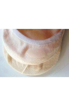 3 paia di Salvapiede antiscivolo igienico in cotone per uomo con silicone che non si muove V168