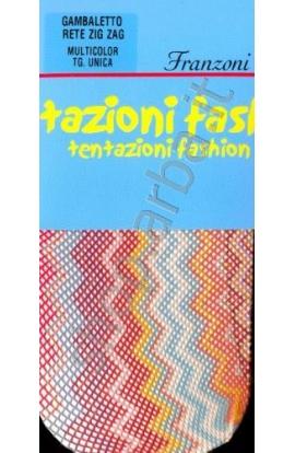 Gambaletto rete ZigZag multicolor