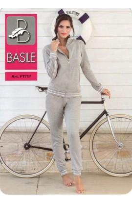 Tuta donna calibrata primaverile leggera 100% cotone Basile FTC757