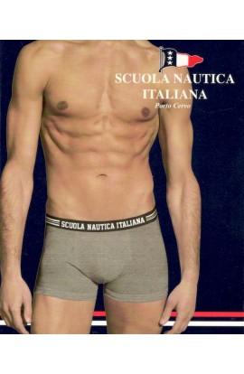 Boxer elasticizzato tinta unita con elastico esterno Scuola Nautica Italiana 868-870