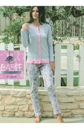 Pigiama aperto estivo donna 100% cotone Basile JC554