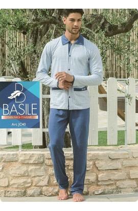 Pigiama aperto per uomo in cotone 100% estivo Basile JC40