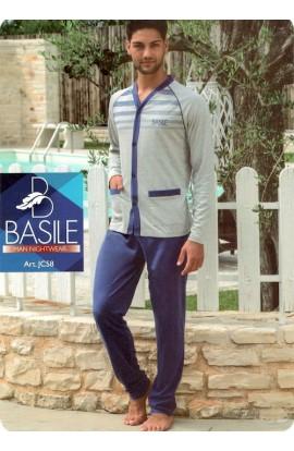 Pigiama aperto per uomo in cotone 100% estivo Basile JC58