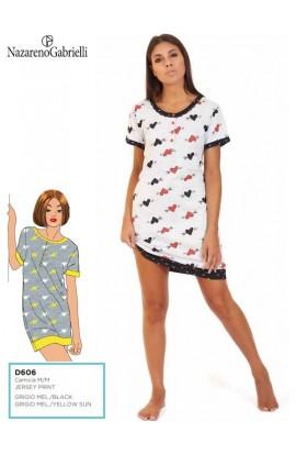 Camicia da notte per donna in manica corta Nazareno Gabrielli D606