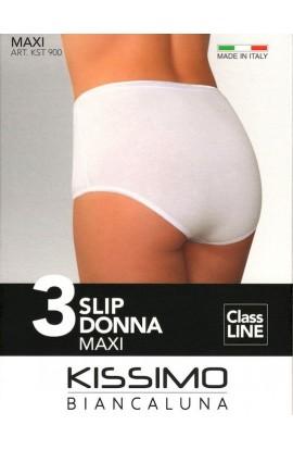 3 Slip MAXI cotone elasticizzato donna elastico morbidissimo Kissimo 900