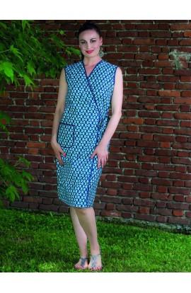 Vestaglia donna estiva senza maniche accavallata con laccetto cotone Aertre 08-5