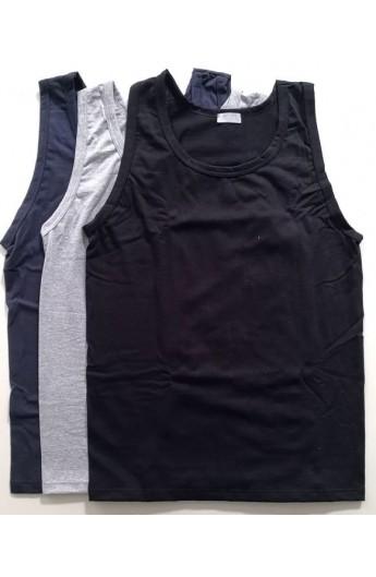 3 Canottiere spalla larga colorate uomo cotone 100% 4428