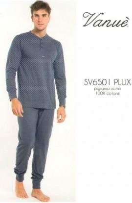 Pigiama calibrato uomo Serafino 100% cotone estivo misure XXXXXL SV6501