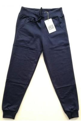 Pantalone tuta uomo 100% cotone garzato con tasche e polsino M03